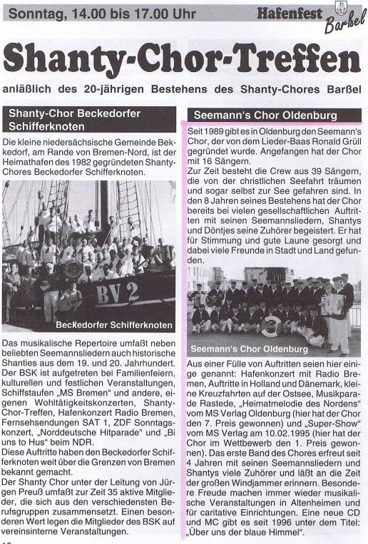 Hafenfest Barßel - 25.08.1997