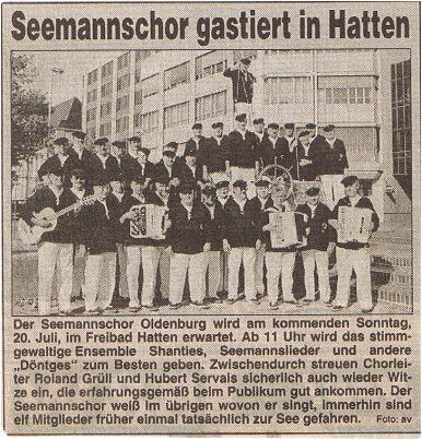 Hunte Report - 16.07.1997